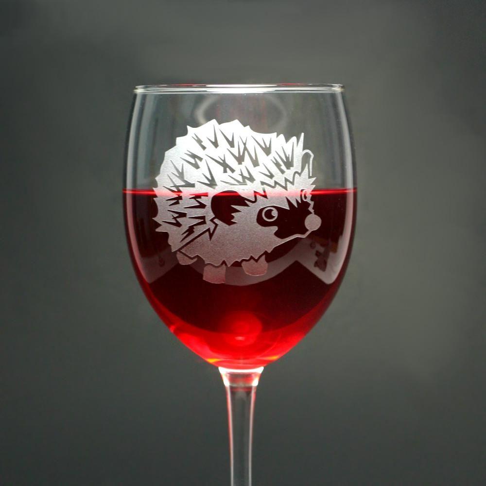 Hedgehog Wine Glass Bread And Badger Hedgehog Wine Exoticpets Etchedglass Engraving Wine Glass Wine Safe Food