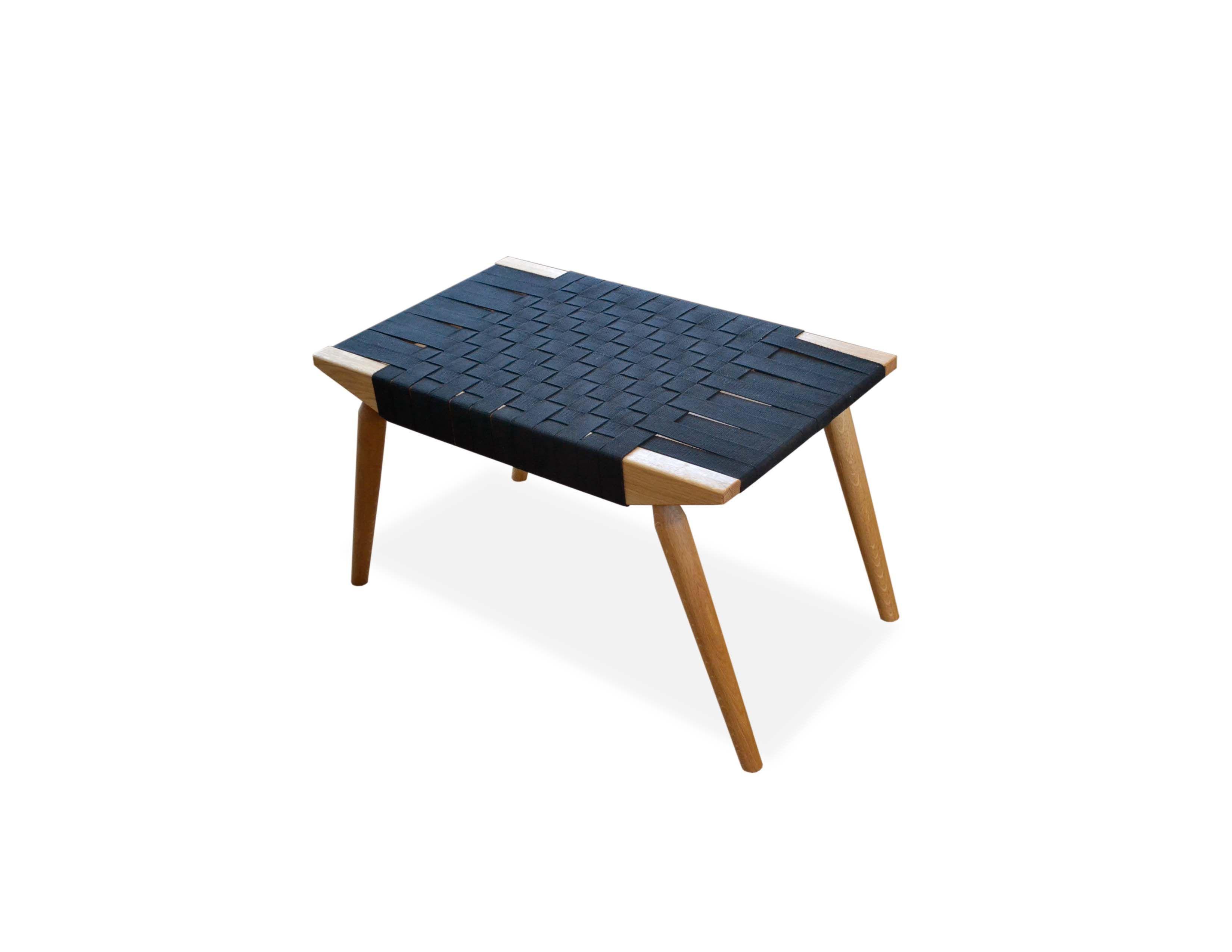 Custom made webbed bench