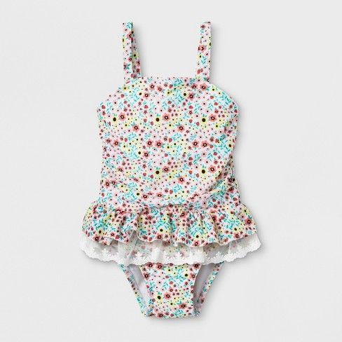 83745610054 Toddler Girls' Lace Tutu One Piece Swimsuit - Cat & Jack™ : Target