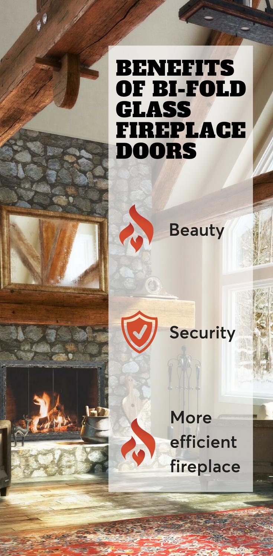 Benefits Of Bi Fold Glass Fireplace Doors We Love Fire Fireplace Glass Doors Fireplace Doors Fireplace