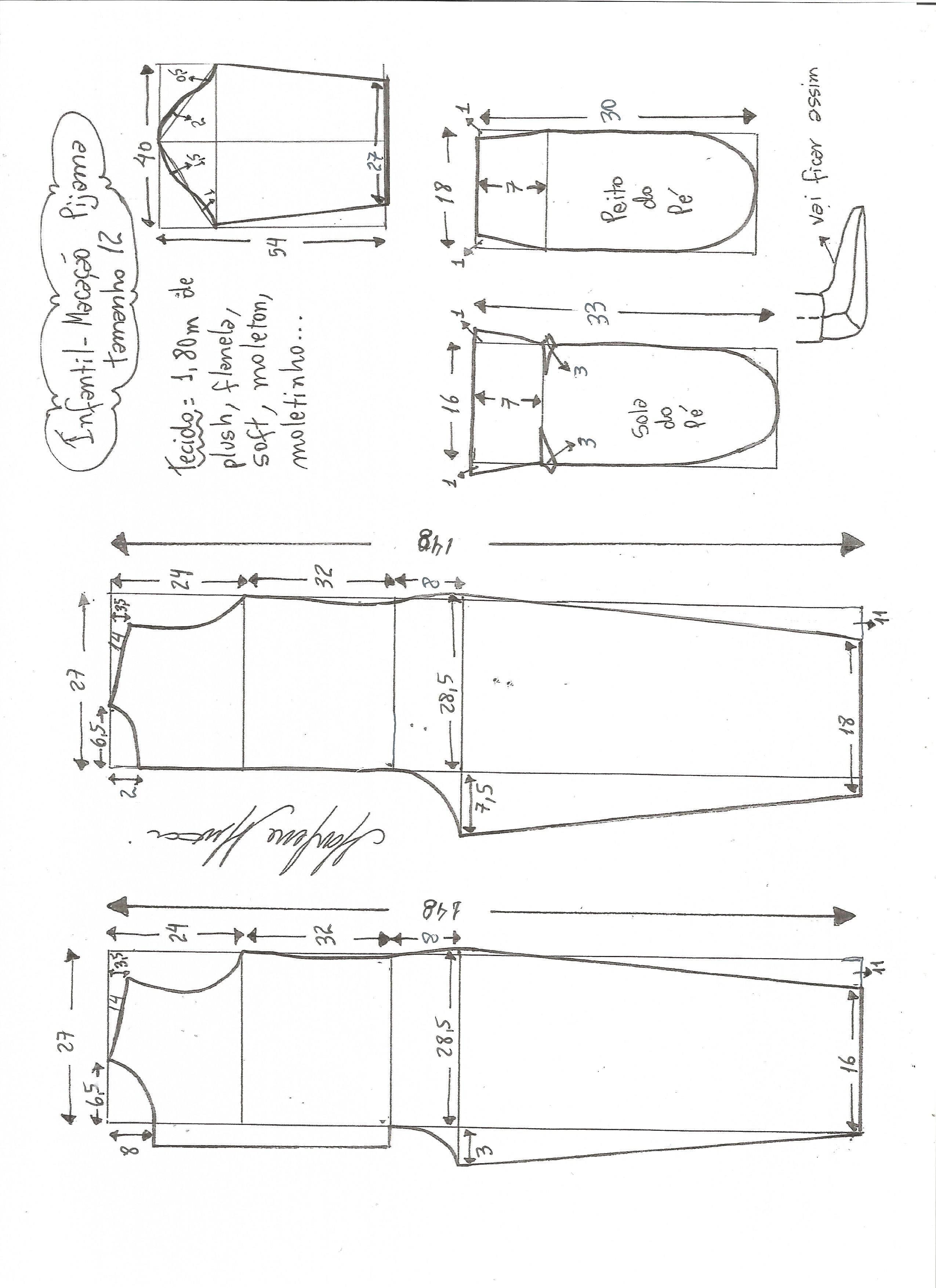 Patrón de pijama infantil | moldes de costura de ropa | Pinterest ...