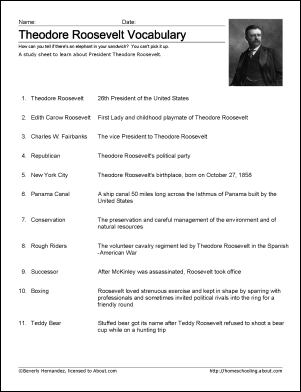 Learn About Theodore Roosevelt With Free Printables Theodore Roosevelt Roosevelt Homeschool History