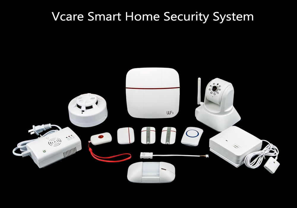 Vcare Dual Network Smart Home Security System - iOS and Android Apps