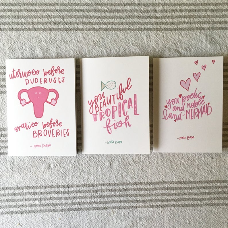 Galentine's Day Card Pack First Edition Leslie Knope