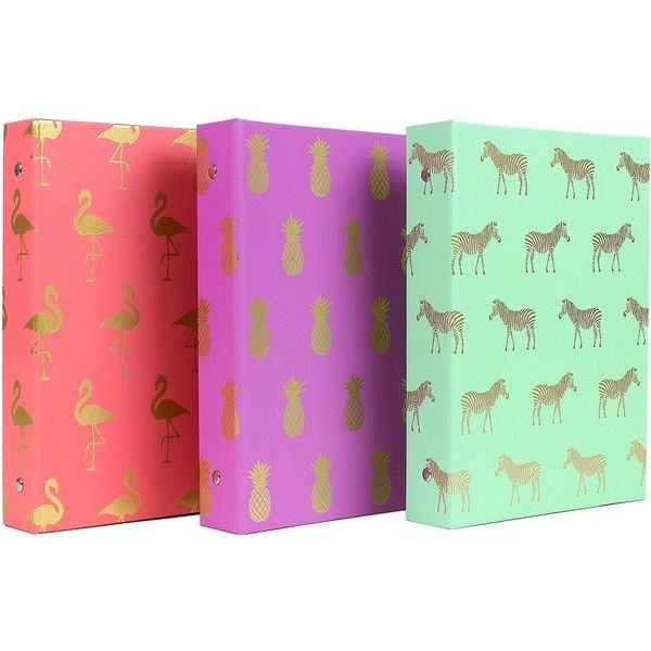 Ring Binder Multi-colored Greenroom ($3.99) Liked On