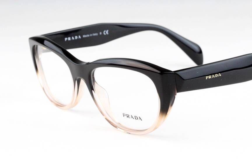 7ddd88f29db4 New Prada VPR01Q Eyeglasses Frames Black Gradient Pink QFJ-1O1 Authentic  52mm #Prada