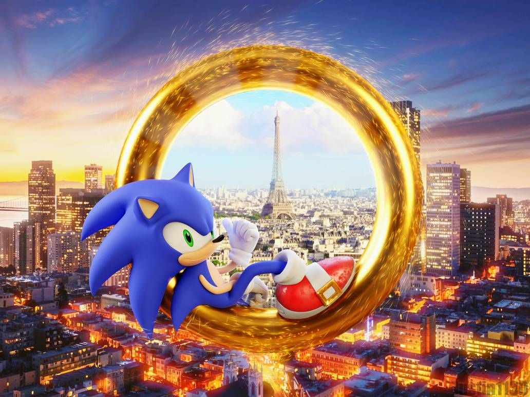 Sonic Movie Render Ring Portal By Justin113d Sonic Sonic The Movie Sonic Art