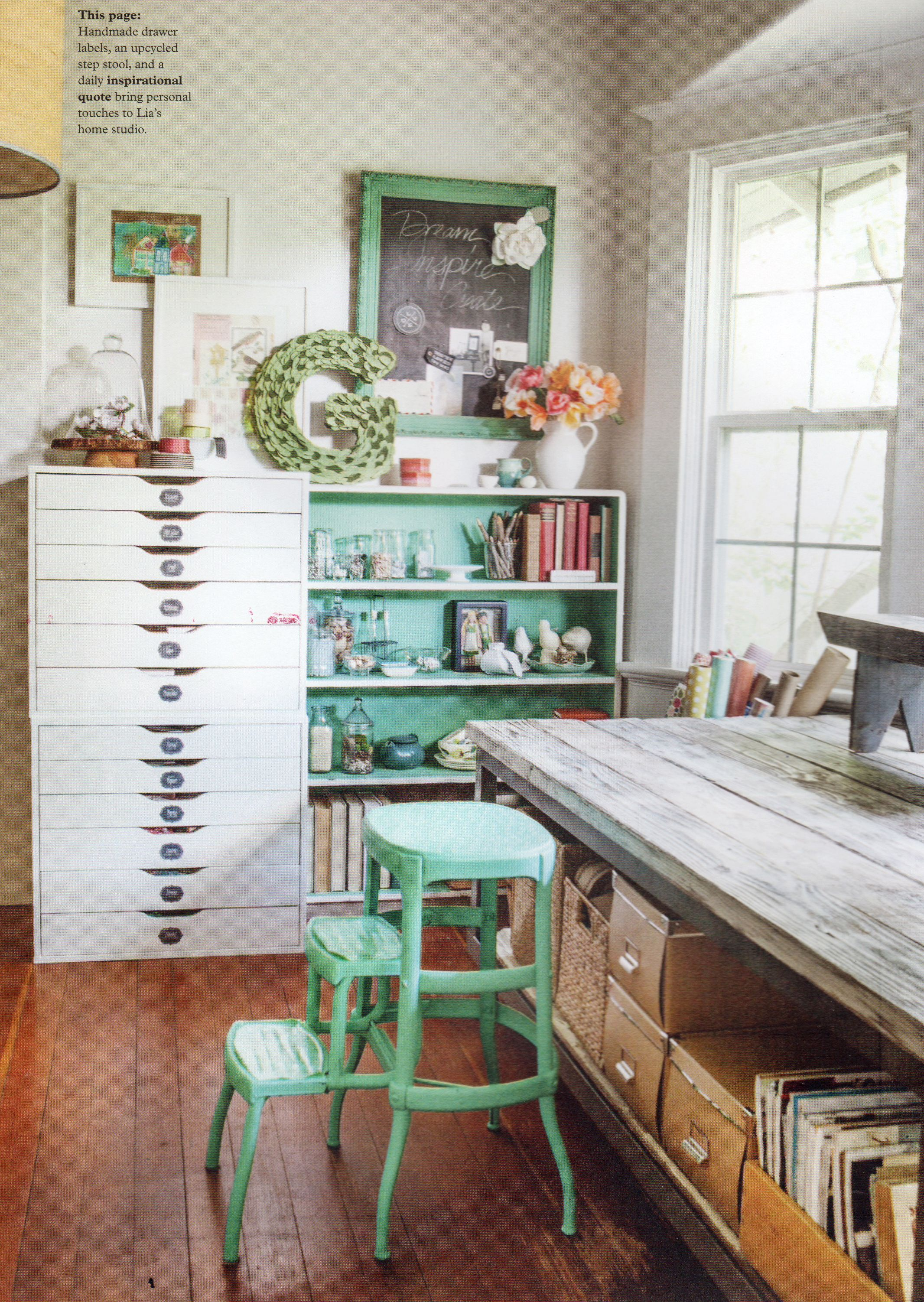 Nz Study Room: Workspace Inspired, Green Teal Colour, Wood And Neat With