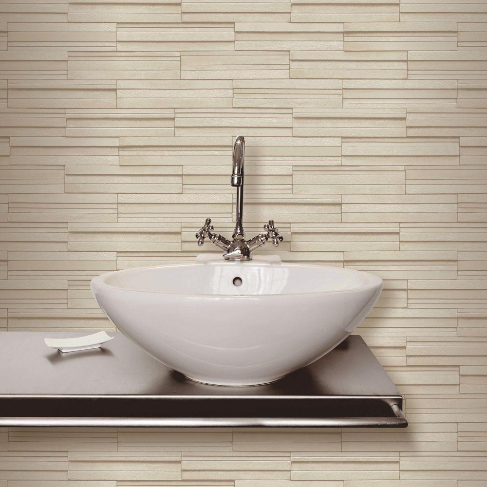 Beige Ceramica Slate Tile Bathroom Wallpaper | Home | Pinterest ...