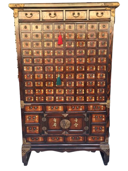 Vintage Chinese Apothecary Cabinet Medicine Storage Chest On Chairish.com