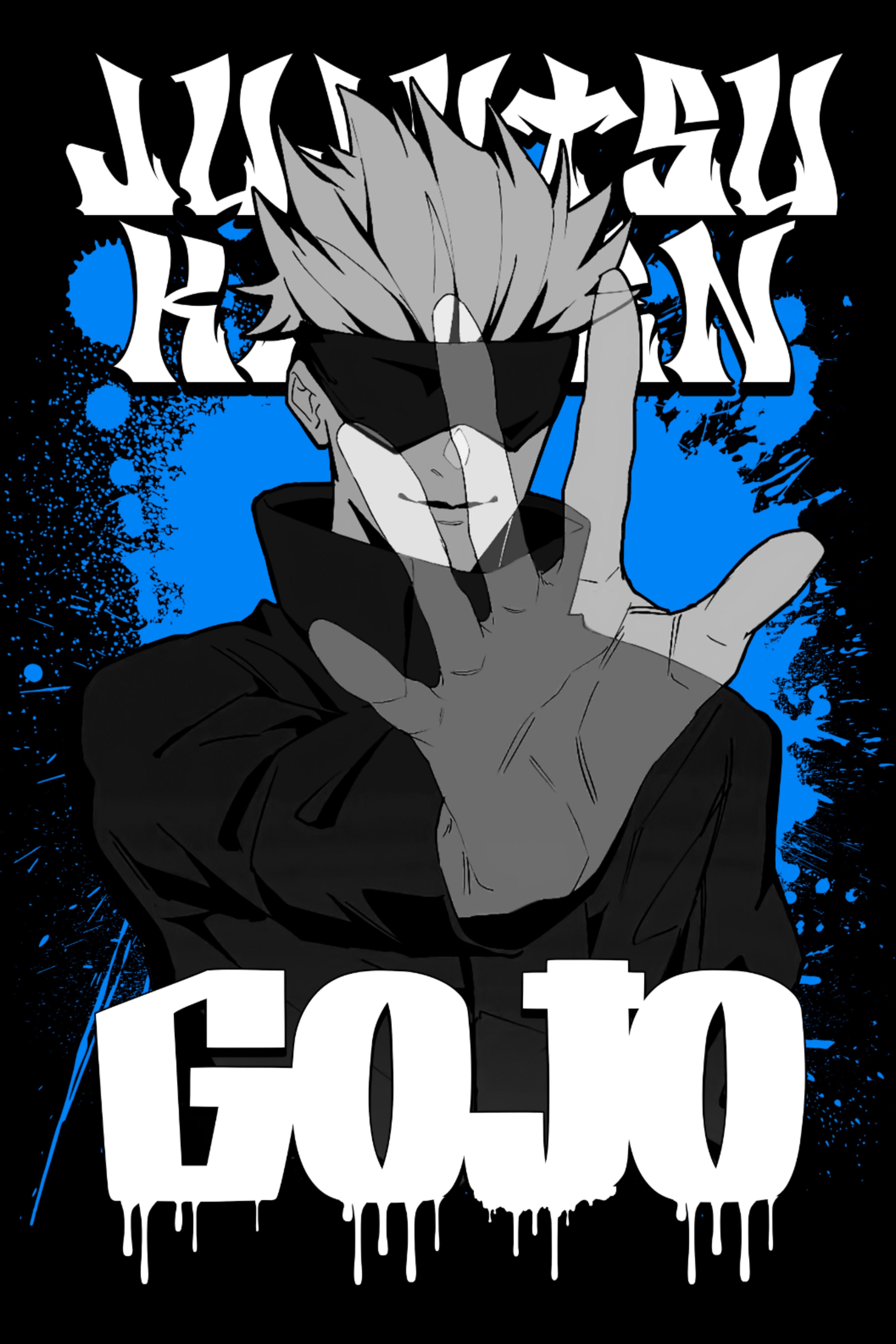 Graffiti Satoru Gojo Jujutsu Kaisen Anime Sorcery Fight Jujutsu Anime Emo Pictures