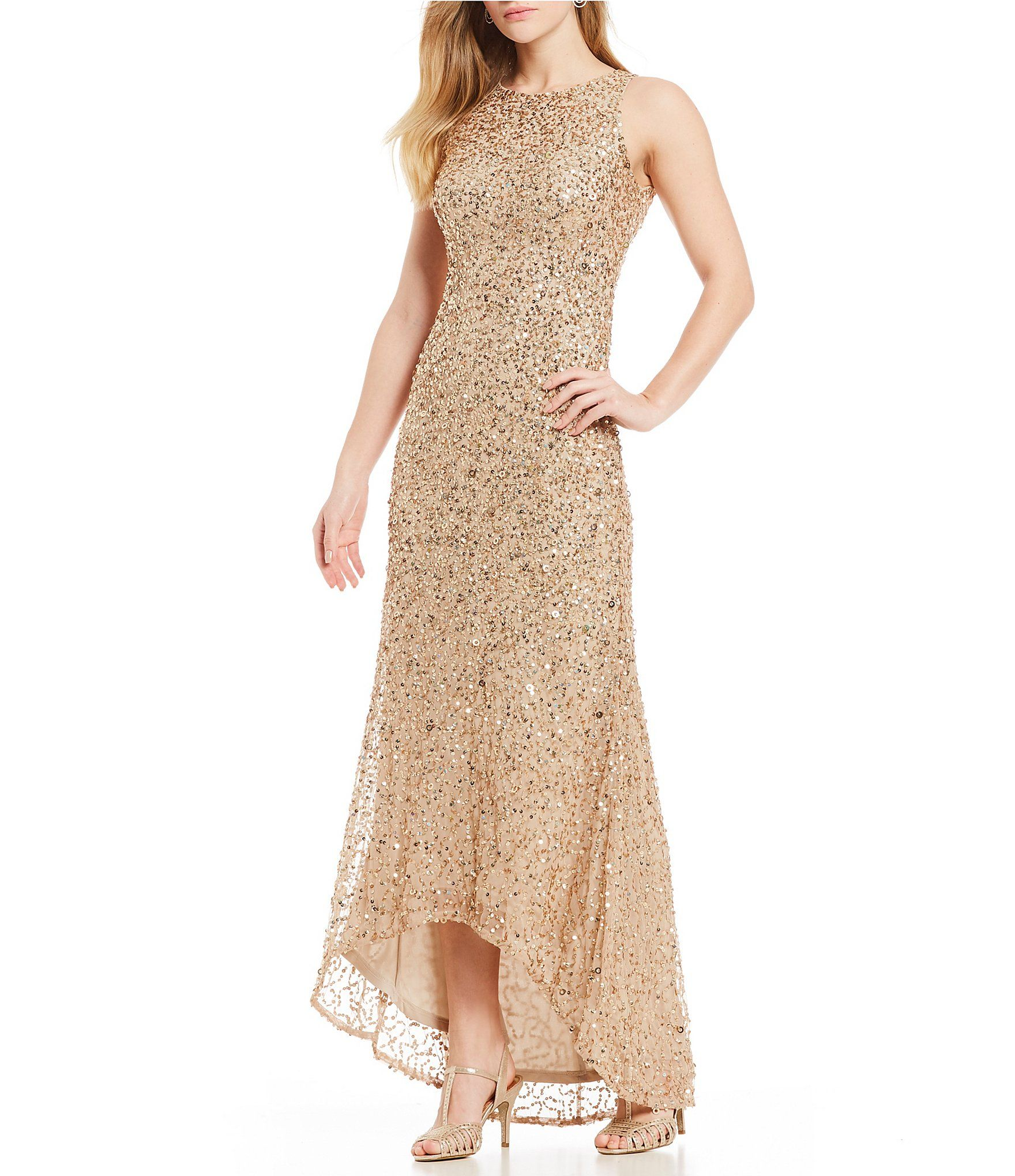 e5fbf70a3df Shop for Adrianna Papell Petite Size Hi-Low Beaded Gown at Dillards.com.  Visit Dillards.com to find clothing