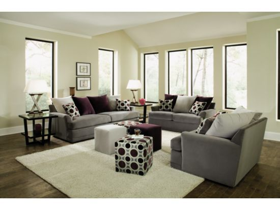 Best Radiance Pewter 3 Pc Living Room Package Value City 400 x 300