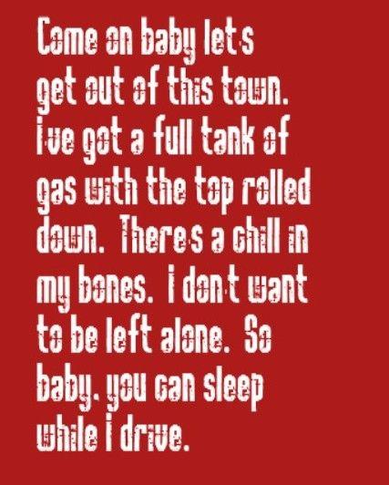Melissa Etheridge - Baby You Can Sleep While I Drive - song ...