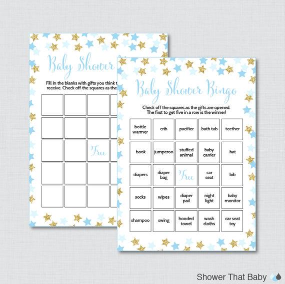 Star Baby Shower Bingo Cards Printable Blank Bingo Cards And Etsy Bingo Cards Printable Baby Shower Bingo Star Baby Showers