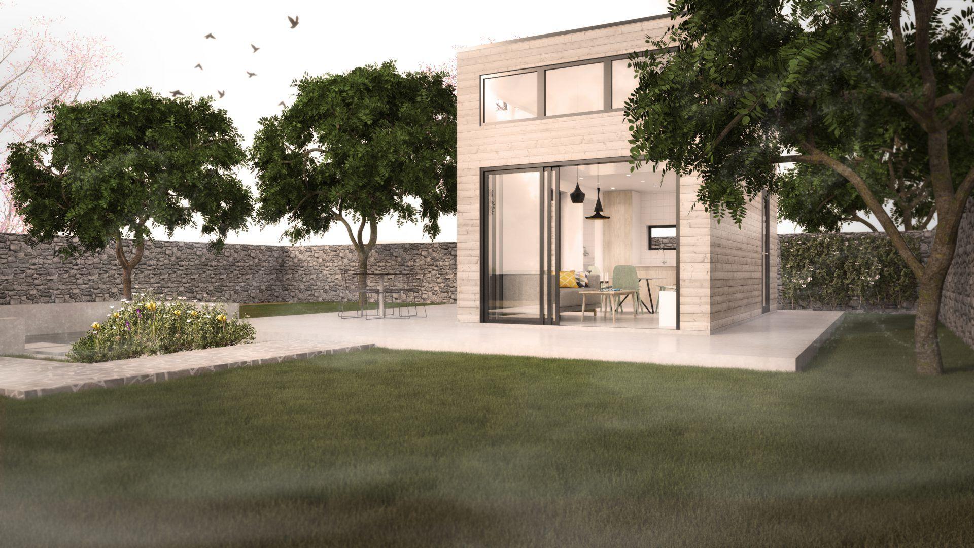 attefallshus 25 kvm med loft modulhus p sk pinterest. Black Bedroom Furniture Sets. Home Design Ideas