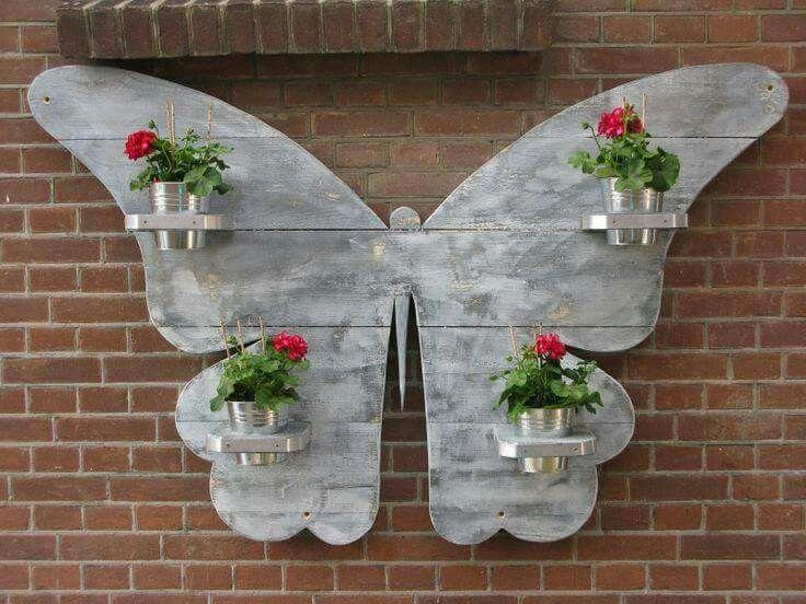 Vinyl Steigerhout Look : Steigerhout vlinderbord . inspiring ideas pinterest decor