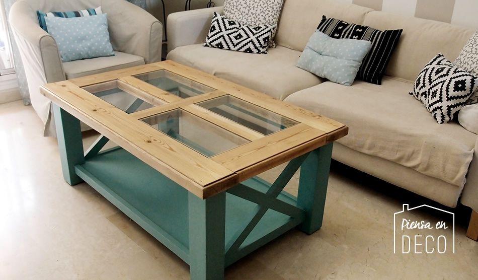 cambio de estilo de mesa rustica a mesa beach cottage muebles diy - muebles diy