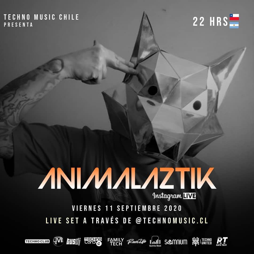 """Animalaztik on Instagram: """"Hoy 22:00 hrs #livestreaming por @technomusic.cl, están todos invitados 🔥🔥🔥🔥🔥🔥😃😃😃😃😃😃 Crew Technoradar🔥 . . . . . . . . . . . . . . . .…"""""""