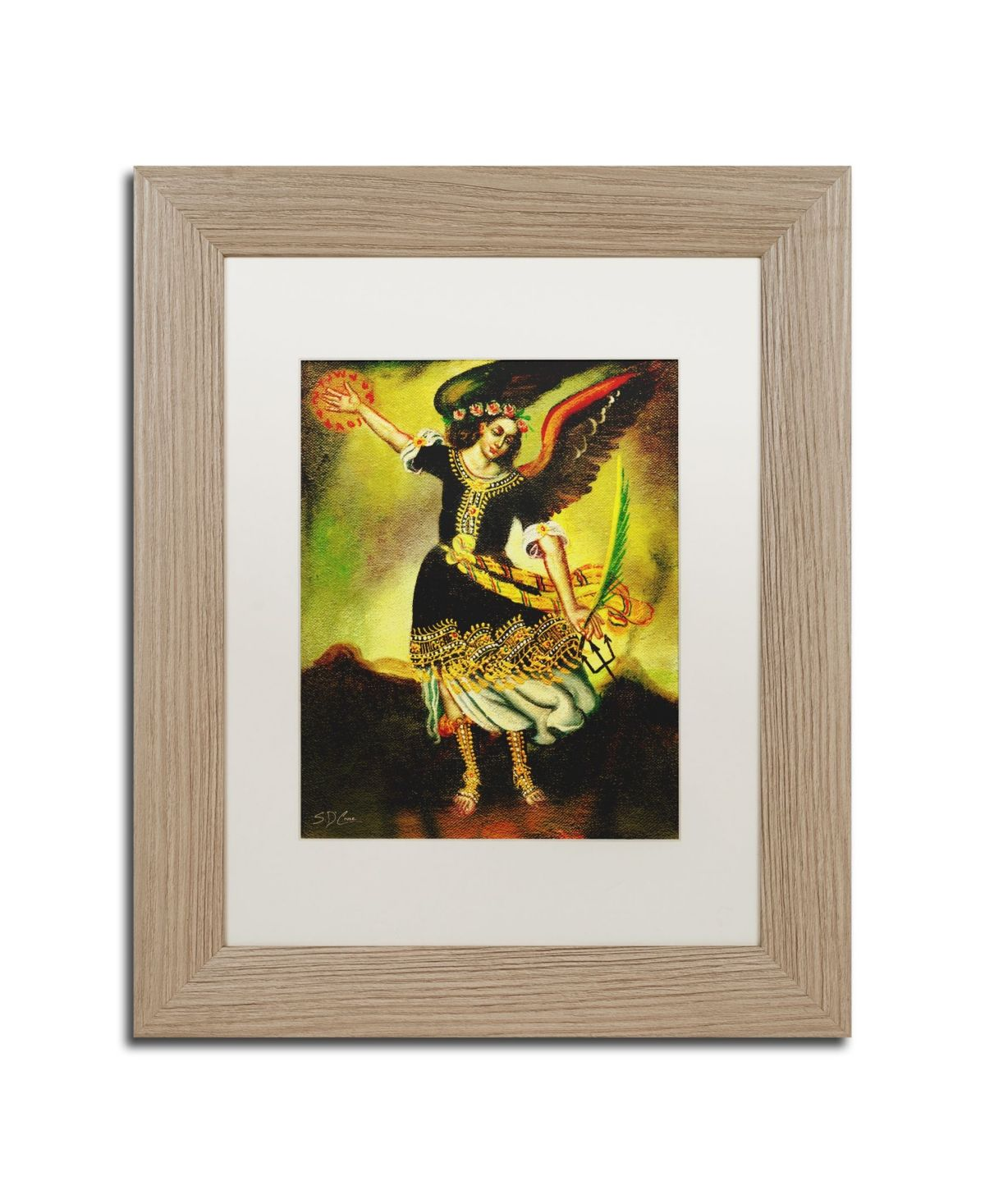Masters Fine Art An Angel Matted Framed Art 11 X 14 Multi Trademark Art Trademark Fine Art Framed Art