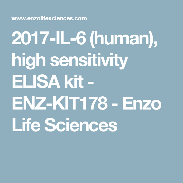 2017-IL-6 (human), high sensitivity ELISA kit - ENZ-KIT178 - Enzo Life Sciences