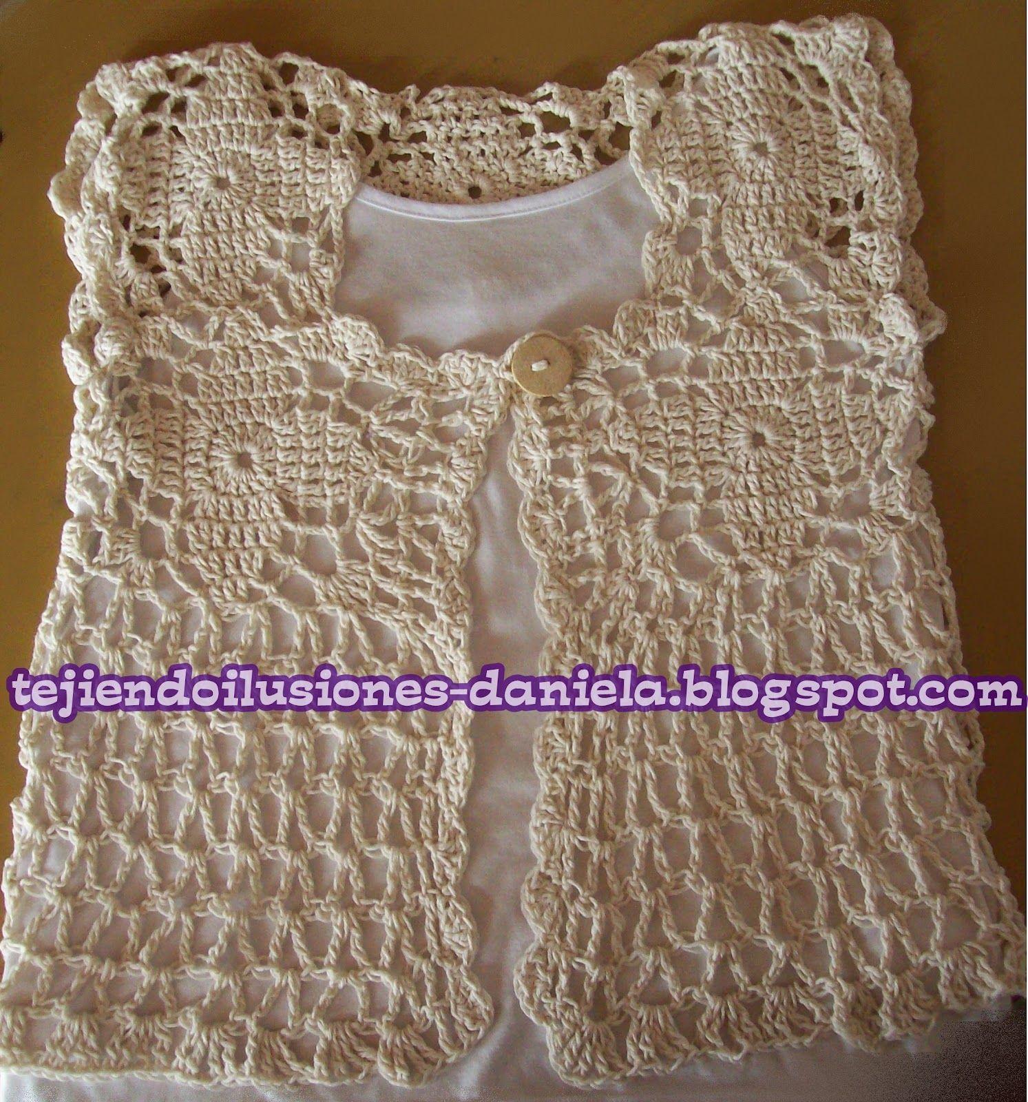 Tejido Crochet Y Artesanías Chaleco De Hilo | Crochet favoritos ...
