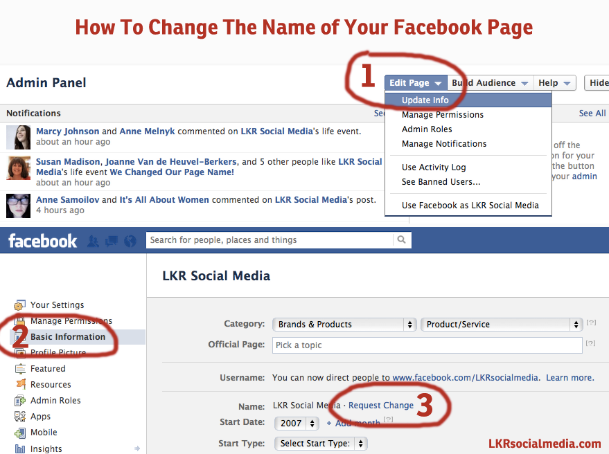 How To Change The Name Of Your Facebook Business Page Social Media Business Using Facebook For Business Social Marketing