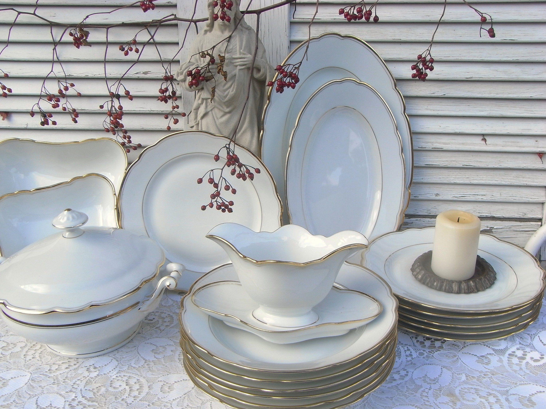 Vintage Speiseservice Tafelservice Für 6 Personen Romantisch Etsy Tafelservice Altes Porzellan Tafel