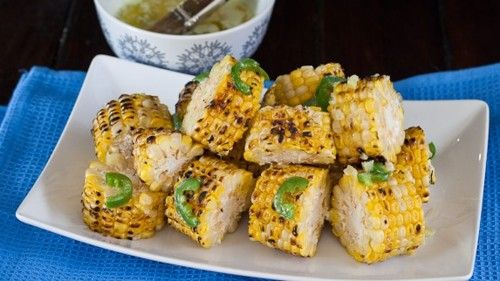 corn with garlic-jalapeno butter
