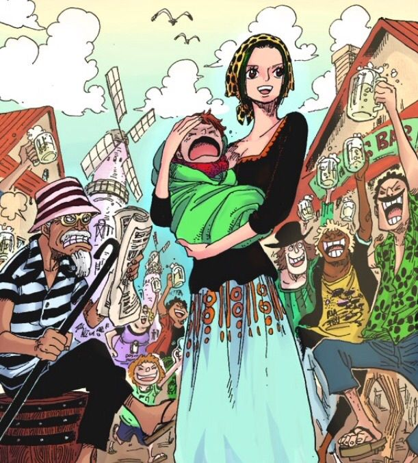 Makino & su hijo - One Piece Chapter 838   Hijos