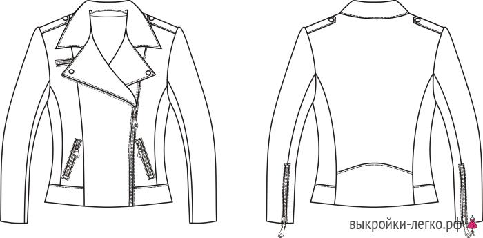 f14e637dbf0c Эксклюзив. Выкройка куртки-косухи (р-р 36-64) | Шить просто — Выкройки -Легко.рф