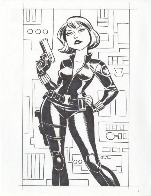 Scarlett Johansson as Black Widow - Bruce Timm | Inked Fem Fatal ...