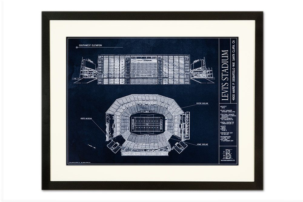 Levis stadium san francisco 49ers san francisco blueprint art levis stadium san francisco 49ers malvernweather Choice Image
