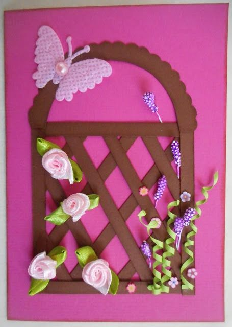 Rose garden card. Full tutorial here http://madebysini.blogspot.com