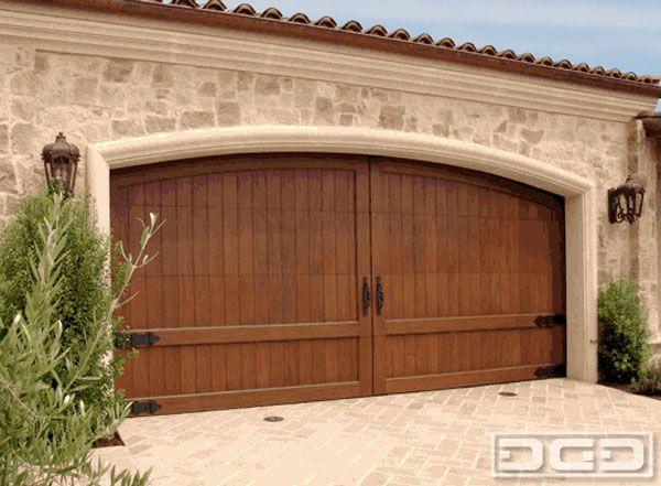 Mediterranean California Dream Home Custom Cedar Garage