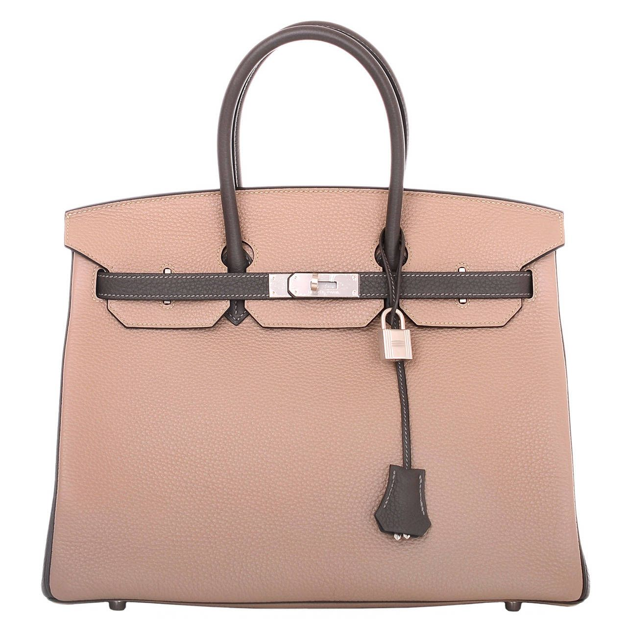 636d880553e9 Hermes Bi-color SO Horseshoe Etain and Gris Tourterelle Togo Birkin ...