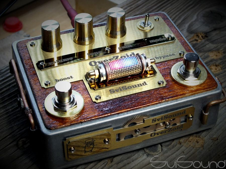 steampunk style guitar pedal overzoid steampumk effects pedals in 2019 guitar pedals. Black Bedroom Furniture Sets. Home Design Ideas