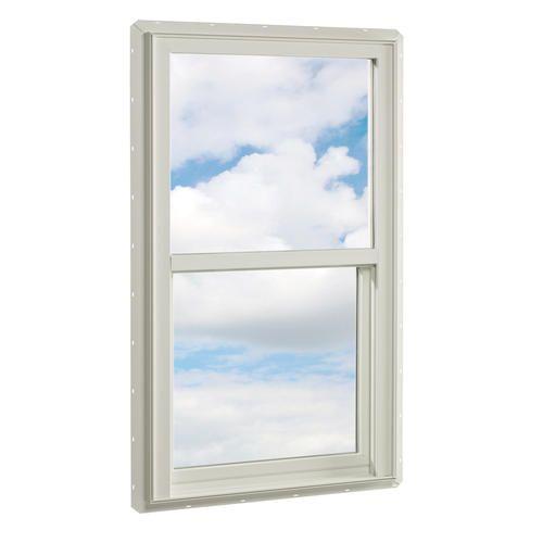 Crestline White Vinyl Single Hung Window 36 X 54 Lo E Argon At Menards Single Hung Windows Windows Windows And Doors