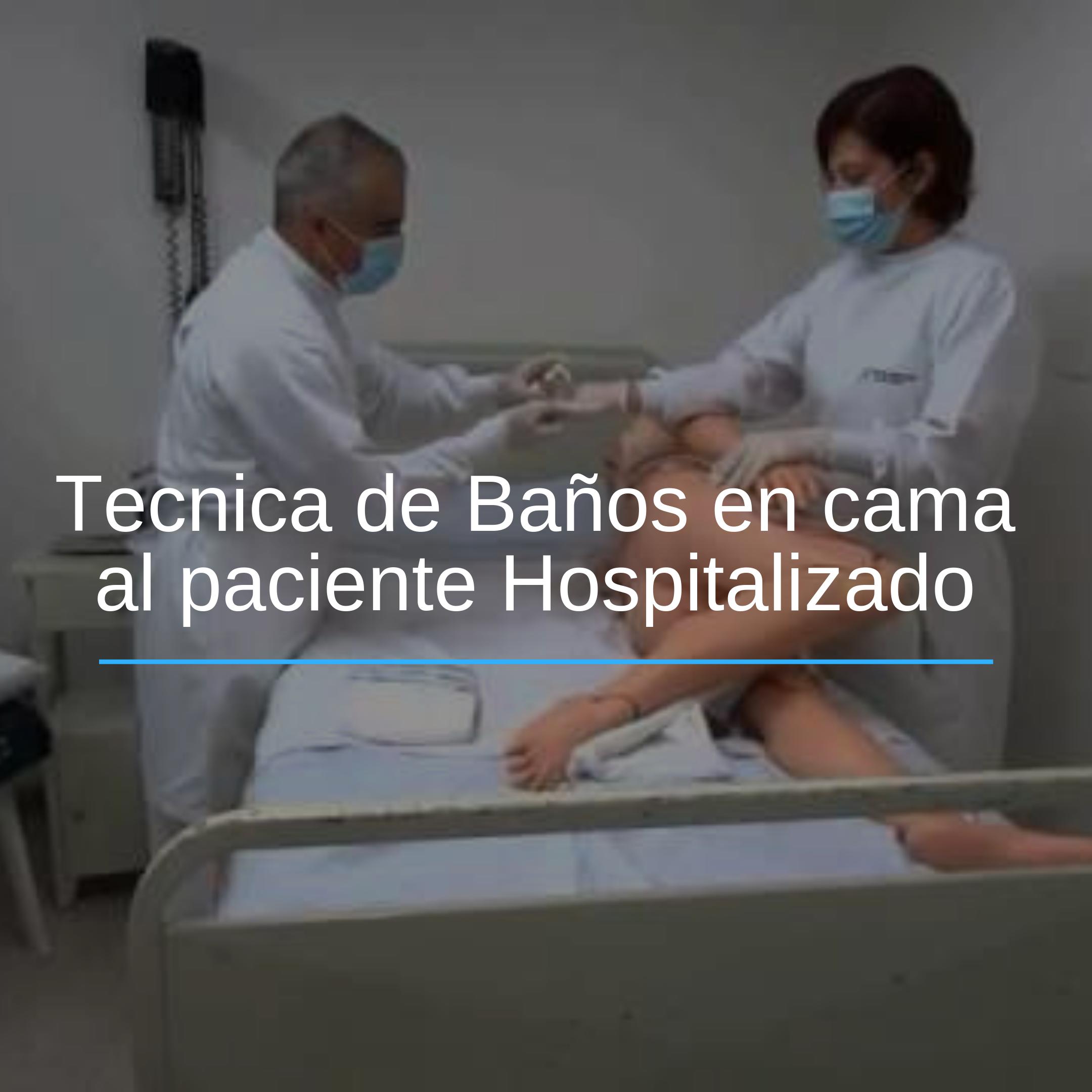 El Bano En Cama A Pacientes Hospitalizados Es Conjunto De
