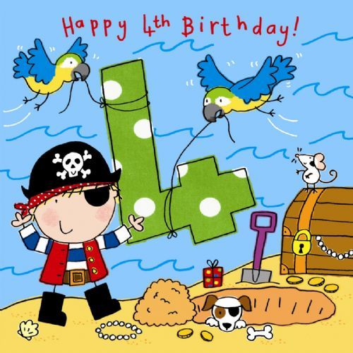 Happy 4th Birthday Birthday Cards Messages Sayings Images – Pirate Birthday Card Sayings
