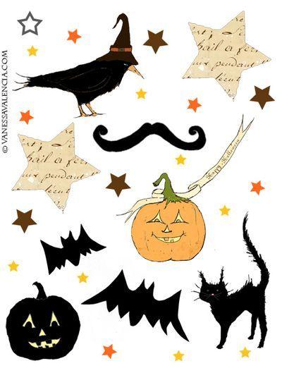 Printable Halloween Treats Cupcake toppers free, Free printables - print halloween decorations