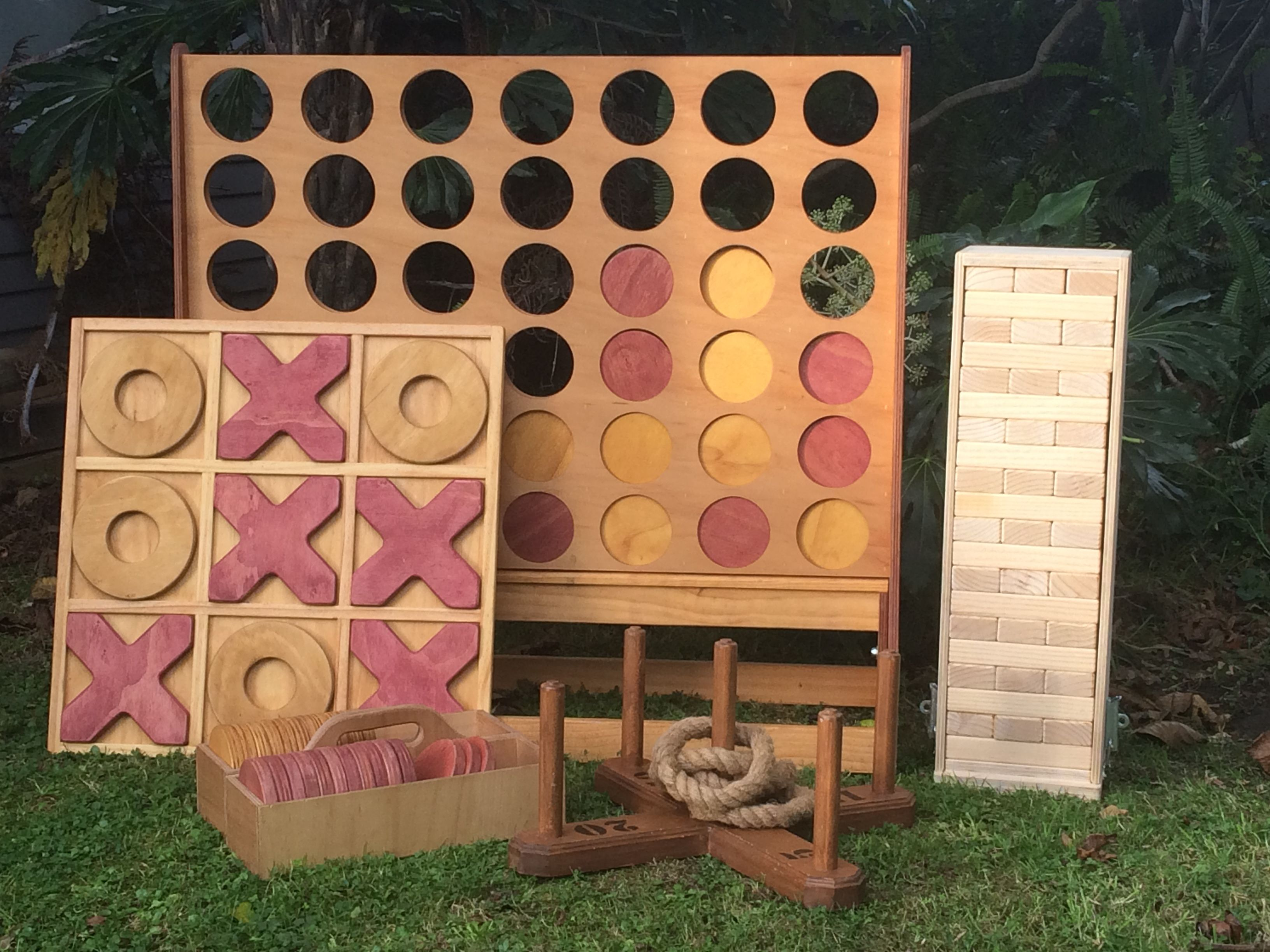 Wooden Games Hire For Weddings And Events Auckland Giant Connect 4 Jenga Quoitsthe Elves And The Woodb Yard Games For Kids Garden Wedding Games Wooden Games