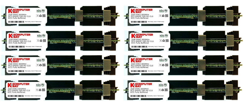 Komputerbay 32GB 8x 4GB DDR2 PC2 6400F 800MHz ECC Fully Buffered FB DIMM 240 PIN 32 GB W Heatspreaders For Apple Computers