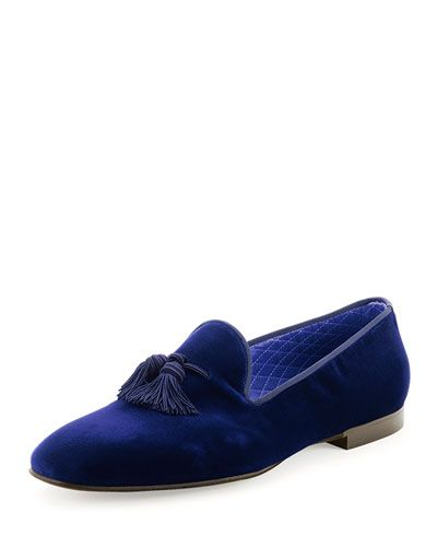 Michael Bastian Loafer Mens Blue Suede Slip On Loafers Shoes