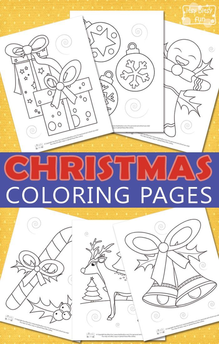 Christmas Coloring Pages for Kids (con imágenes) Navidad