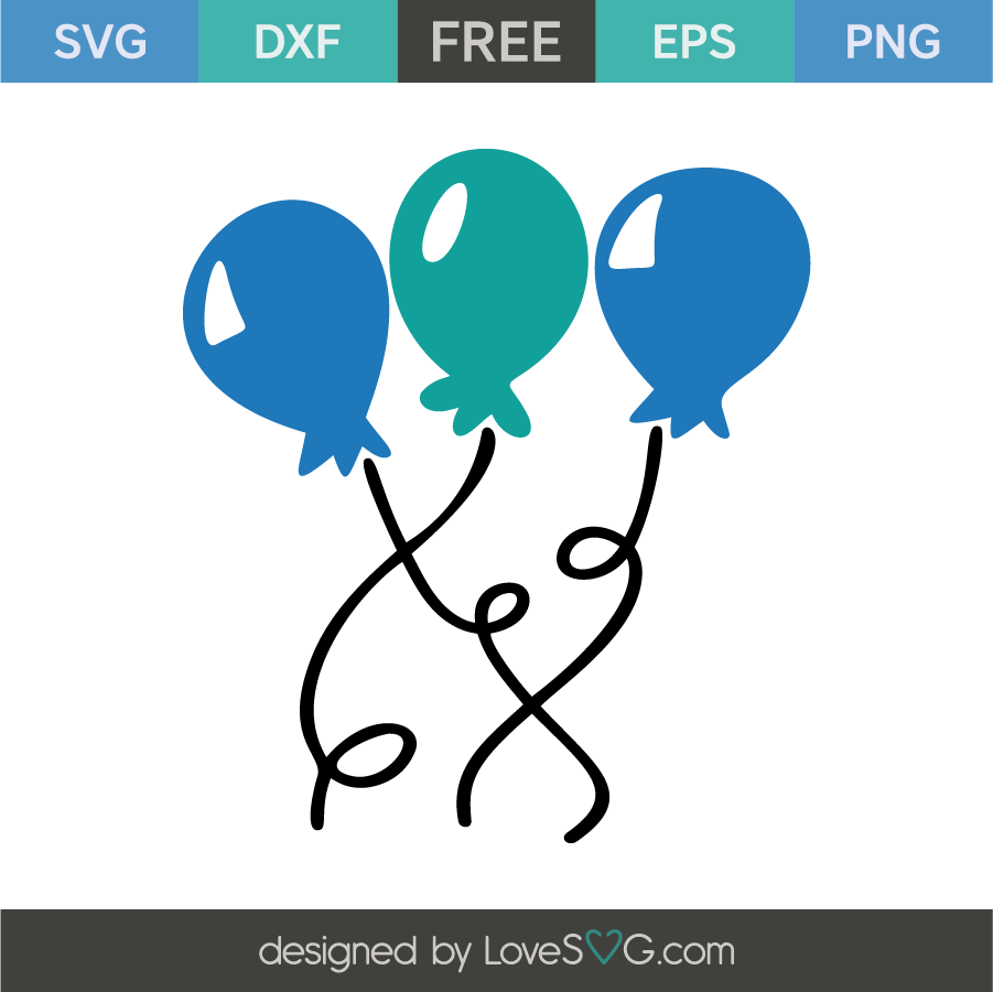 Download Birthday balloons | Birthday balloons, Free stencils, Balloons