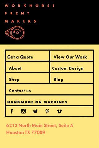 Workhorse Printmakers, Spindletop Design, Houston, Texas | Design
