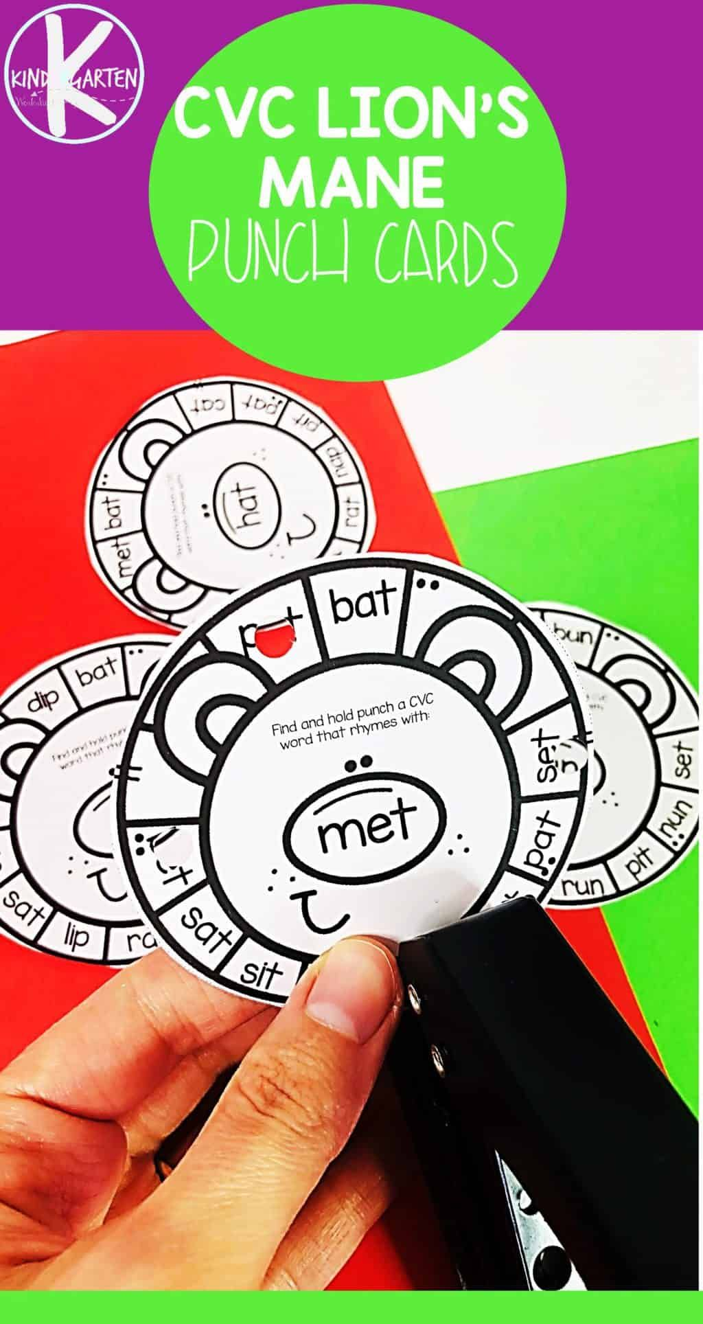 Free Lion Rhyming Words Activity In