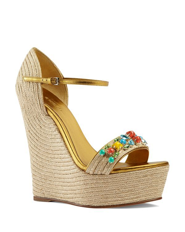 976c7bf628c5 Gucci Platform Espadrille Wedges - Carolina Jeweled