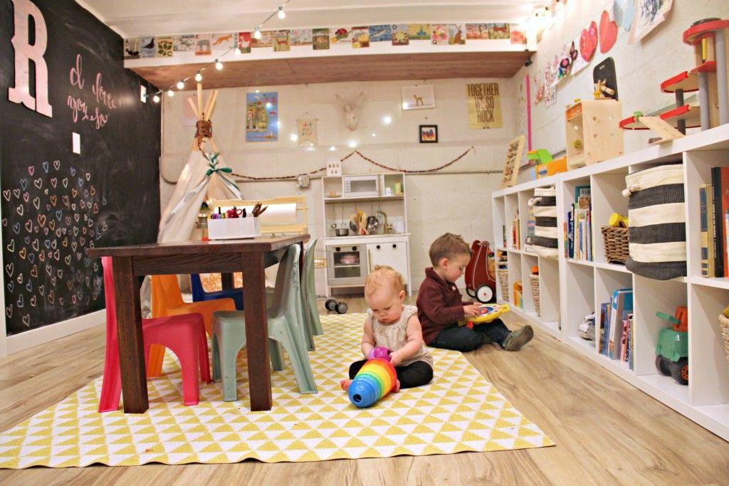 A Whimsical Basement Playroom | Muebles niños, Sala de juegos y Juego